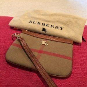 Burberry Check Wristlet NWOT